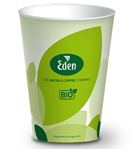 205ml Bio Cup for water dispensers front view