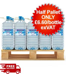 30 Bottles - 15L Justeau Spring Water - Half Pallet